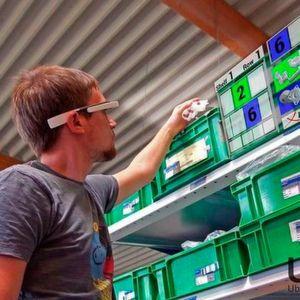 Richtiges Bauteil gefunden? Datenbrillen helfen künftig bei der Suche, indem sie Regalfach und Artikelnummer einblenden.