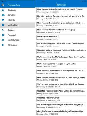 Mit einer iPad-App verwalten Administratorn Office 365 auch von unterwegs als Administrator.