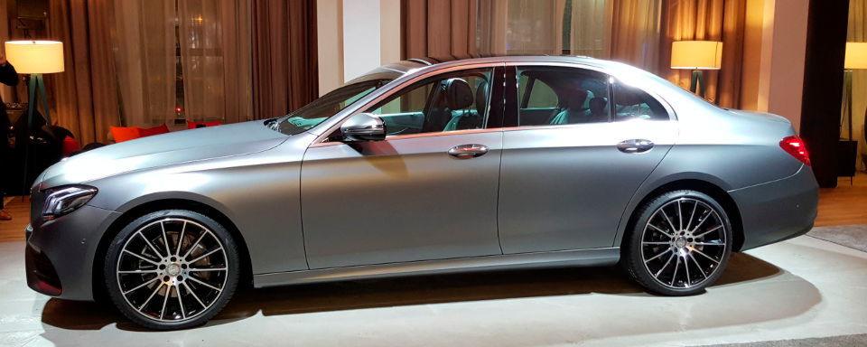 Die neue Mercedes E-Klasse ist einer der Stars in Detroit.