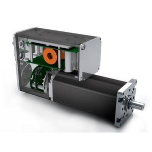 Der 550 W starke BG 75 DMC beinhaltet neben der Leitungselektronik, der Steuerungs- und Positionierelektronik, SPS-Funktionen, Busanbindung und vielfältigen Geber- und Bremsen- Optionen zukünftig auch das Netzteil.