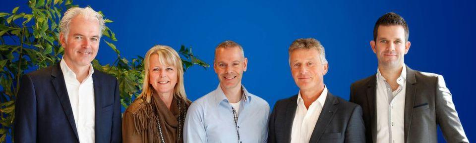 Das PI Benelux-Team (v.l.n.r.): Dick Moerman, Marja van den Bosch, Jeroen van de Velde, Erik Keune und Erik Reichardt.
