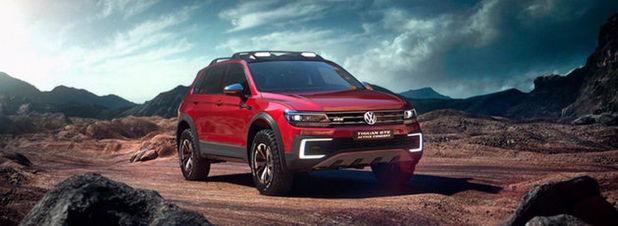 Der Tiguan GTE Active Concept: Das auf der NAIAS in Detroit vorgestellte Hybrid-SUV hat 235 kW Systemleistung und eine elektrische Kardanwelle.