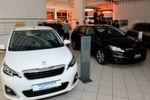 Blick in den künftigen Showroom: Auf rund 1.000 Quadratmetern stellt Auto Parc France Neuwagen von allen drei PSA-Marken aus.