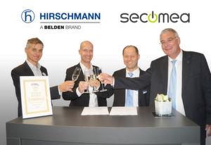 Automation: Hirschmann und Secomea unterzeichnen Partnerschaftsabkommen für innovative Remote-Access-Lösung.