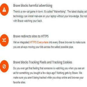 Sicher, ohne Trackingpixel oder -cookies, ohne schädliche Werbeeinblendungen: Das sind die Versprechen, die Brave mit sich bringt. Statt auf der Webseite findet Tracking und Werbung statt dessen im Browser selbst statt. Der Aufbau der Internetseite bleibt davon unberührt, Werbung bekommt der Nutzer trotzdem. Ein Modell, das Seitenbetreiber entschädigen soll, existiert auch.