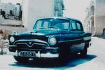 1960 begann Toyota offiziell mit dem Fahrzeugexport nach Europa, zuerst nach Malta und Zypern, dann folgen Dänemark und die Niederlande. Im BIld: Der Toyota Crown auf Malta.