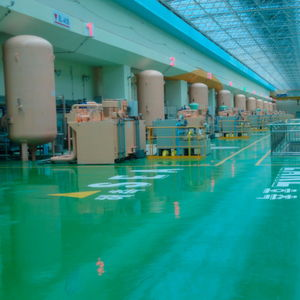 Im weltgrößten Gezeitenkraftwerk Sihwa-ho in Südkorea erzeugen zehn Rohrturbinen auch mit Hilfe von Turbinenregelaggregaten von Bosch Rexroth eine elektrische Leistung von 254 Megawatt.