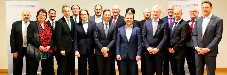 Wollen die Digitalisierung in Deutschland vorantreiben: der neue Gesamtvorstand der Initiative D21 e.V.
