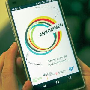 Die Ankommen-App ist ein Gemeinschaftsprojekt von BAMF, Goethe-Institut, Bayerischem Rundfunk und Bundesagentur für Arbeit.