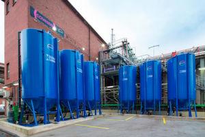 Übersicht über die neue Natriumchlorid-Aufbereitungsanlage von Covestro am Standort Krefeld-Uerdingen.