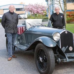 Ürsprünglich galt fast die ganze Leidenschaft von Stokes einem Alfa Romeo 8C, den die in Mailand ansässige Firma von 1931 bis 1939 gebaut hatte.