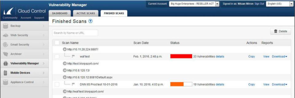 Der Barracuda Vulnerability Manager stellt umfassende Informationen zu gefundenen Schwachstellen bereit.