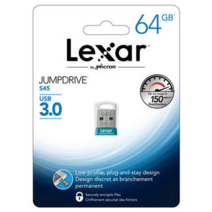 Der Lexar JumpDrive S45 bietet bis zu 128 Gigabyte auf kleinsten Raum.
