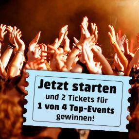 Wer die Telekom-Netzvermarktung mit Eno startet, hat die Chance Tickets gewinnen.