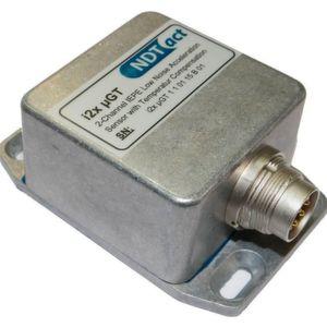 Der Beschleunigungssensor µGT von Indact eignet sich zur Lagerüberwachung ebenso wie für den Einsatz in Windkraftanlagen.
