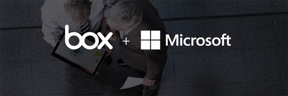 Bereits im Vorjahr präsentierte Microsoft Box als Cloud Storage Partner.