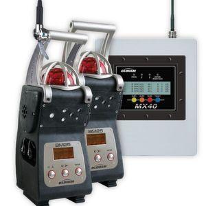 Die kabellose Version des Mehrgaswarngeräts BM 25 wird bei der Informationsverwaltung von der Gaswarnzentrale MX 40 unterstützt.