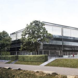 Abb. 1: Außenansicht auf die neuen Gebäude des Amts für Verbraucherschutz.