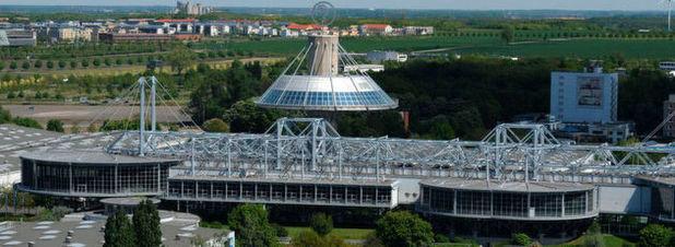 Das Kongresszentrum auf dem Messegelände in Hannover: Die Industrie 4.0 wird auch auf der diesjährigen Hannover Messe ein zentrales Thema sein.