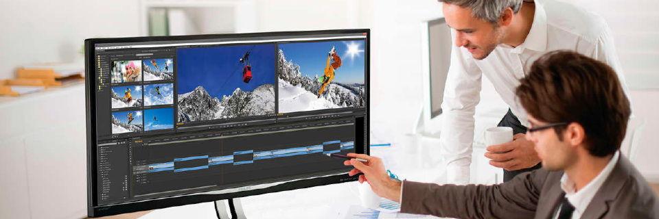 Professionelle Umgebungen folgen der Unterhaltungselektronik. Große und hochauflösende Displays werden in den Büros immer beliebter.