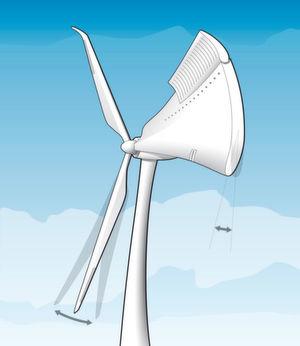Intelligente Rotorblätter passen sich der Windstärke an.