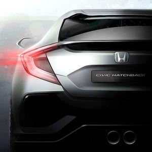 Im Mittelpunkt des Honda-Standes in Genf steht der Prototyp des neuen Civic.