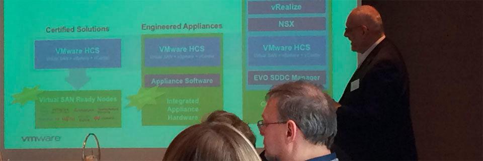 Pressekonferenz zur Vorstellung von Vmwares Hyperconverged Software Vsan.