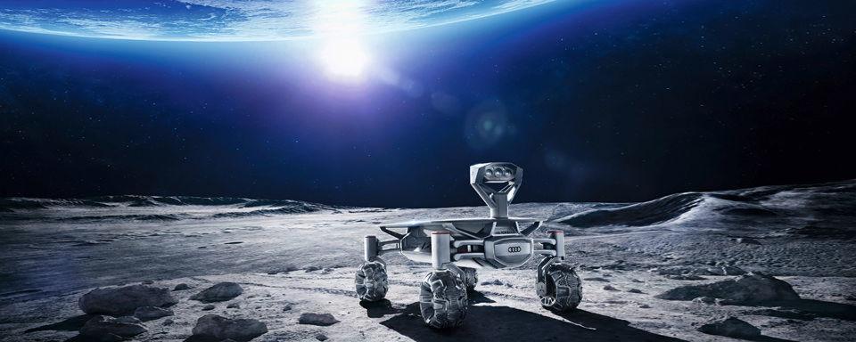 """Audi entwickelt gemeinsam mit einer deutschen Ingenieursgruppe einen Mond-Rover. Der """"Lunar Quattro"""" soll spätestens Ende des Jahres 2017 zum Mond reisen."""