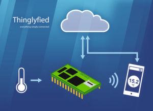 Mit Thinglyfied lassen sich Sensoren an verschiedenste Cloud-Plattformen anbinden. Darüber hinaus lassen sich die Daten per Smartphone-App visualisieren, auswerten und überwachen.