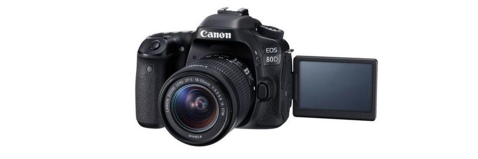 Canon präsentiert seine EOS 80D, die im Mai auf den Markt kommt.