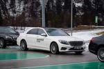 Selbst die Mercedes S-Klasse stand bei der Nokian-Präsentation für Driftübungen zur Verfügung.