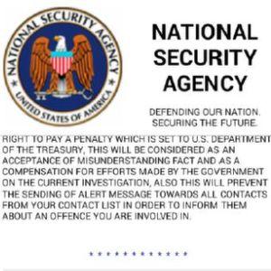 """Eine neue Variante der Schadsoftware """"Simplocker"""" gibt sich als NSA aus."""