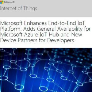 Microsoft verheiraretet das IoT mit Azure.