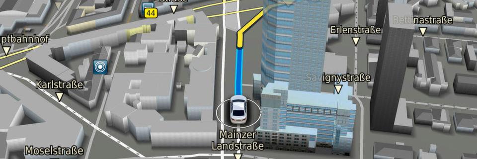 Die weiterentwickelte Navigationssoftware von Bosch kann die Daten des neuen Navigation Data Standard (NDS) besonders ansprechend aufbereiten – auch offline.