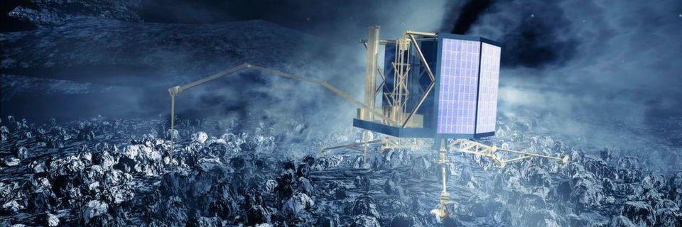 Antriebe von Fritz Faulhaber helfen bei der Weltraumerkundung. Die Landeeinheit Philae der Rosetta-Mission bei der Arbeit.