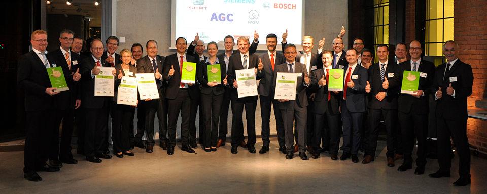 Die Gewinner der Lean & Green-Awards 2015. Im Jahr 2016 findet die feierliche Verleihung im Rahmen