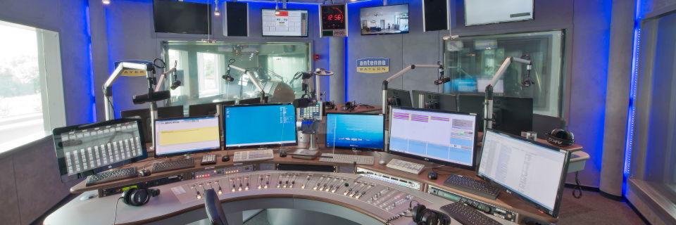 Sendestudio bei Antenne Bayern