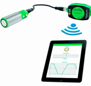 SmartBridge schlägt die Brücke vom Sensor zum Mobilgerät und kommuniziert so drahtlos mit den Industriesensoren, und zwar während des laufenden Betriebs der Anlage.
