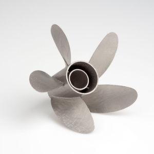 Im Laserschmelzen hergestellter Propeller.