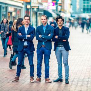 Die Gründer von Sendcloud (vl.n.r.): Bas Smeulders, Rob van den Heuvel und Sabi Tolou.
