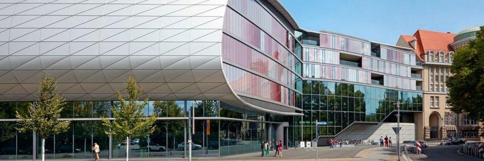 Die Standorte der Deutschen Nationalbibliothek in Frankfurt und Leipzig (hier: Leipzig) können ihre Datenbestände dank Hochdurchsatz-Verschlüsselung zukünftig in kürzester Zeit abgleichen
