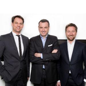 Wechsel in der Geschäftsführung der Thermamax Hochtemperaturdämmungen GmbH. Ralf Großhauser, Dr. Jochen Weyrauch und Hartmut Auer (v.l.n.r.).
