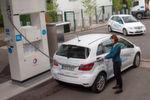 Wasserstofftankstellen sind in Deutschland eher selten zu finden.