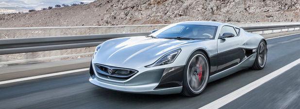 Soll bald in Serie gehen: Der elektrisch angetriebene Supersportwagen Concept One mit 800 kW