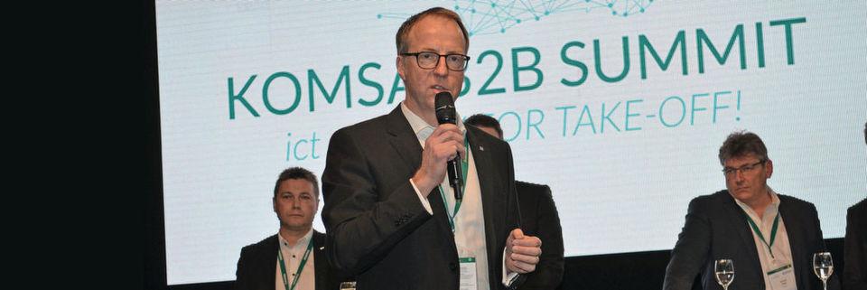 Steffen Ebner, Vice President Systems & Solutions bei Komsa, zeigte das Geschäftspotenzial der Cloud auf.