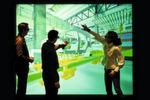 Virtuelle Darstellung einer Produktionslinie.