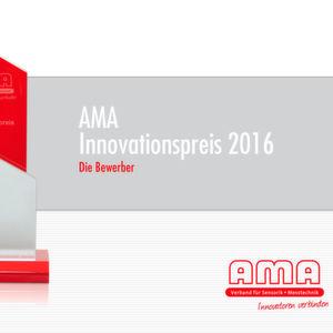 Der oder die Gewinner des AMA Innovationspreises 2016 werden am 10. Mai 2016 auf der Eröffnungsveranstaltung der Fachmesse Sensor+Test 2016 in Nürnberg bekannt gegeben.