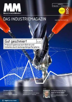 Die Titelseite des MM MaschinenMarkt 10/2016 zeigt den Index aus KW 8