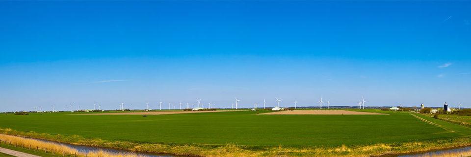 Das Panorama-Bild von Nordfriesland zeigt an, wo primär die Energie für das Windcloud-Rechenzentrum herkommen soll.