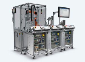 Das Trainingssystem mMS4.0 bildet die Prozessschritte einer Industrie 4.0-Fertigung ab.
